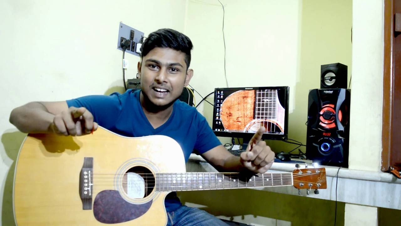 First Beginner Acoustic Guitar Lesson How To Play Guitar Bengali Tutorial 1 Youtube