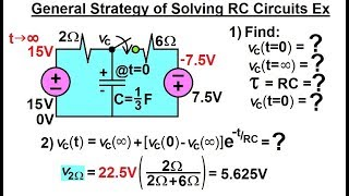 Electrical Engineering: Ch 8: RĊ & RL Circuits (32 of 65) Gen. Strategy of Solving RC Circuits Ex.