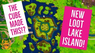NEW ISLAND CLOSER LOOK! THE FORTNITE CUBE EVENT! Fortnite Battle Royale! New loot lake cube island!