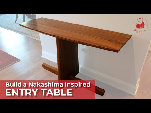 Table Build: George Nakashima Inspired Entry Table