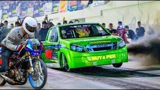 ⚡ MOTORCYCLE vs ISUZU DMAX ▶DRAG RACING