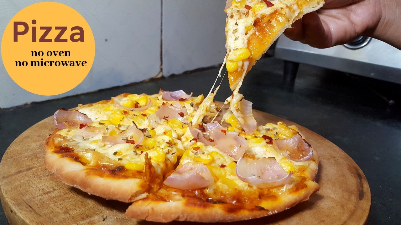 homemade pizza without oven | homemade pizza without microwave ...