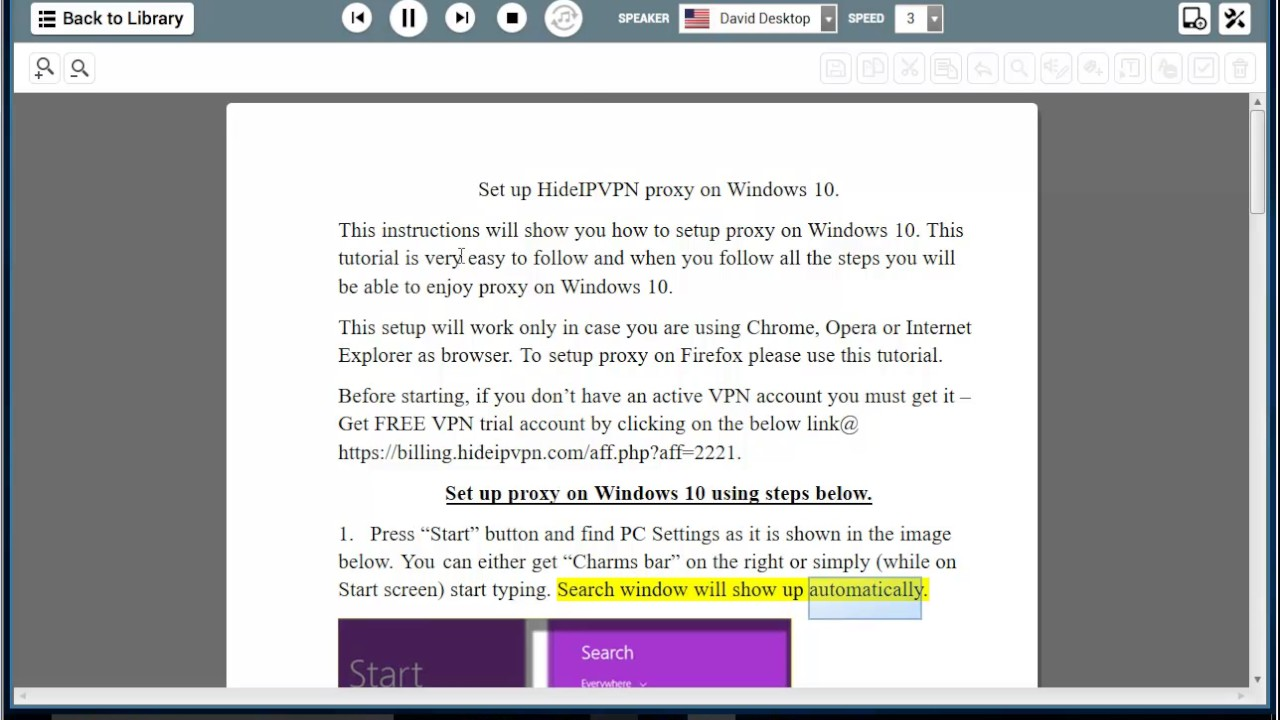 Set up HideIPVPN proxy on Windows 10/8/7