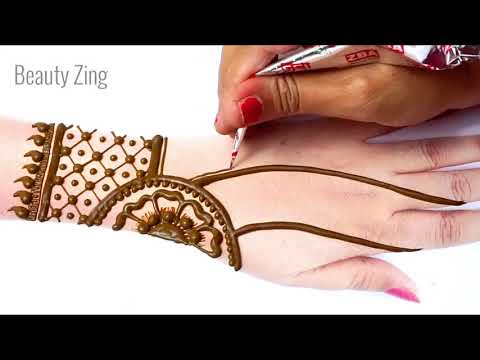Eid Special Mehndi Design from Florals & Dots -गोल टिक्की से आसान मेहँदी लगाना सीखे| Stylish Mehandi