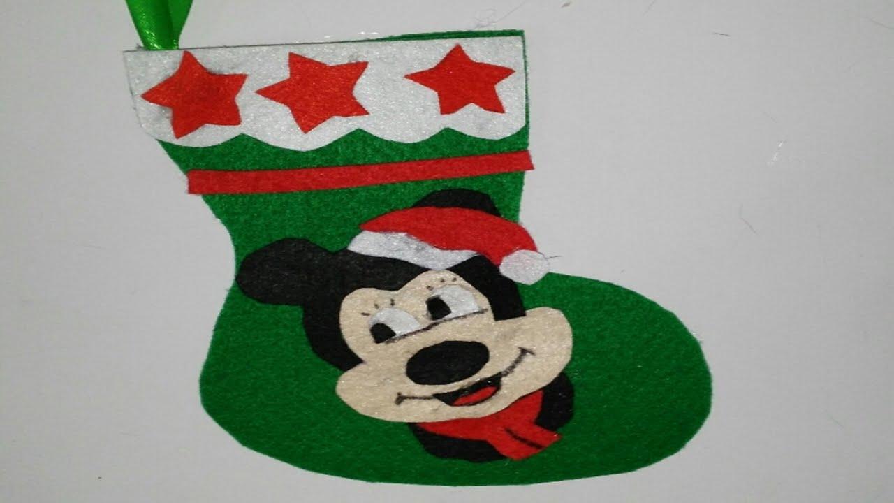 botas de navidad de mickey mouse adornos navide os