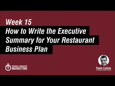 Executive Summary for a Restaurant Business Plan