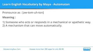 Learn English Vocabulary by Maya - Automaton