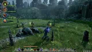 Dragon Age: Inquisition lvl 19 Tempest Archer vs lvl 19 Lightning Dragon at Storm Coast