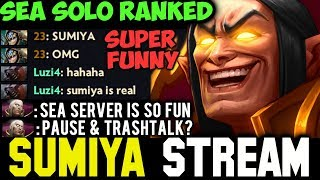 SUMIYA Invoker in SEA Server + Funny Chat | Sumiya Facecam Stream Moment #196