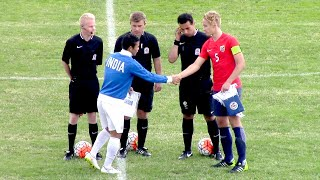 20160629 [U17] NORWAY U16 - INDIA [U17 WORLD CUP SQUAD] [Highlights]