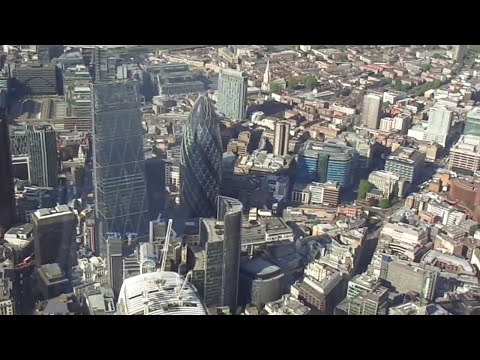 London from above | Fly from Battersea to Canary Wharf