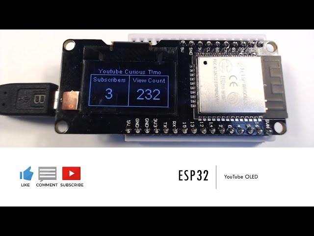 ESP32 | YouTube OLED (ESP32 for Arduino IDE)