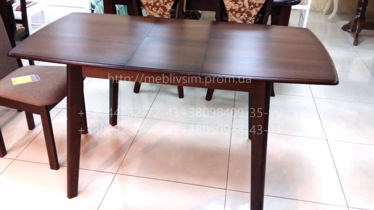 Обеденные группы для кухни и гостиной от производителя чп «олексенко» в киеве: четыре деревянных стула и стол в едином дизайне.