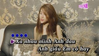 TONE NAM | Về Đây Anh Lo (Karaoke) | Huỳnh Ái Vy