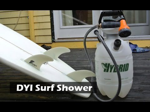 Diy surf or camping shower youtube for Diy outdoor shower surfboard
