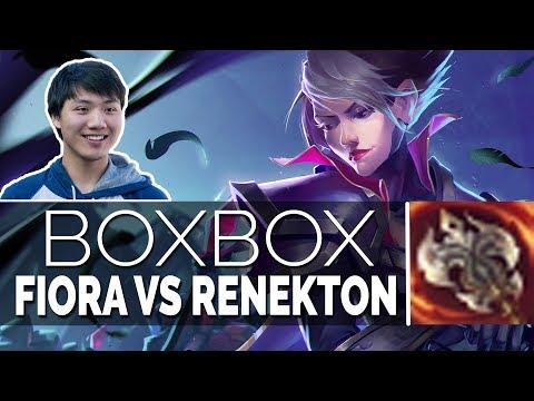 BoxBox Fiora Top Stream - FIORA VS RENEKTON - 7.20 Season 7 Gameplay