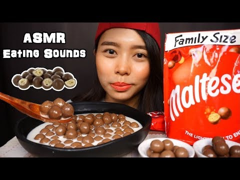 ASMR Maltesers Chocolate Balls with Warm Milk | Crunchy Eating Sounds | No Talking