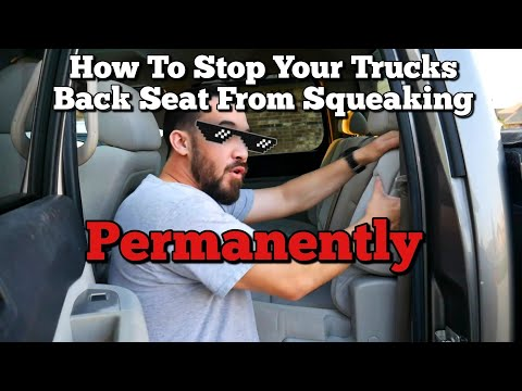 How to Fix That Squeaky Back Seat Chevrolet Silverado GMC Sierra Rattle Noise