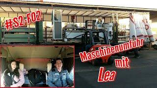vuclip #S2-F02 Maschinenumfuhr mit Lea/ LKW Doku/ Truck Doku deutsch