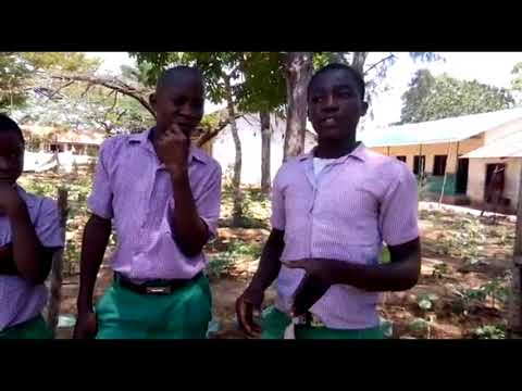 Students tending the garden at Matsangoni Primary School.