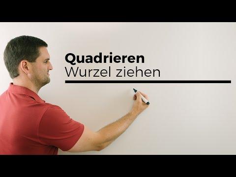 Quadrieren, Wurzel ziehen, Radizieren, Grundlagen | Mathe by Daniel Jung from YouTube · Duration:  3 minutes 17 seconds