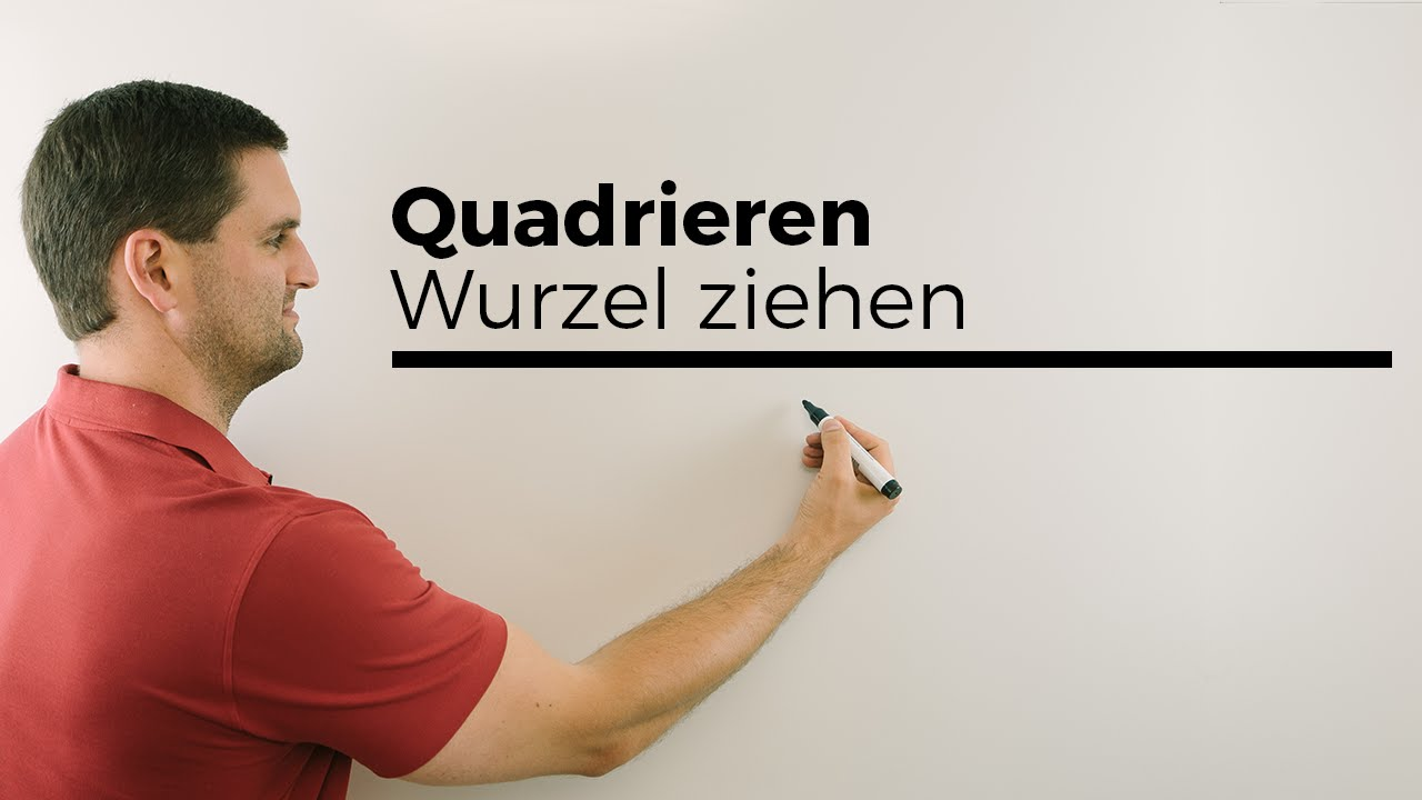 quadrieren wurzel ziehen radizieren grundlagen mathe by daniel jung youtube. Black Bedroom Furniture Sets. Home Design Ideas