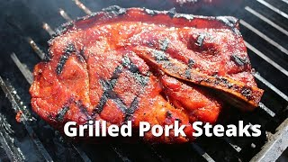 Grilled Pork Steak Recipe | Pork Blade Steak Recipe on the PK Grill