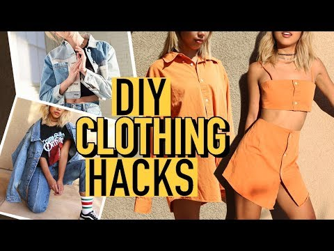 DIY URBAN OUTFITTERS CLOTHING HACKS! Turning old clothes into new! | DIY | Nava Rose