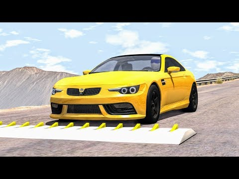 Spike Strip High Speed Crashes #36 – BeamNG Drive