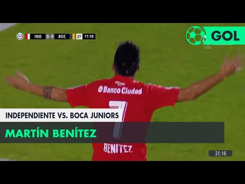 Martín Benítez (1-0) Independiente vs Boca Juniors | Fecha 23 - Superliga Argentina 2017/2018