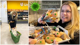 VLOG    Makyaj Masamı + Fırçalarımı Temizledim! Cilt kanseri olacaktık ! Mini Market Alışverişim