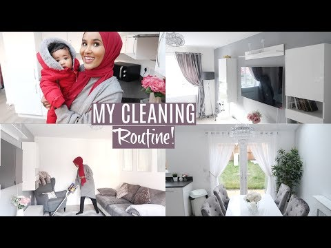 CHATTY SPEED CLEAN WITH A BABY+ LIVING ROOM TOUR!| Zeinah Nur