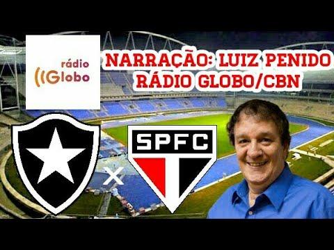Gols De Botafogo 3 x 4 São Paulo (Luiz Penido) Rádio Globo - Brasileirão - 29/07/2017