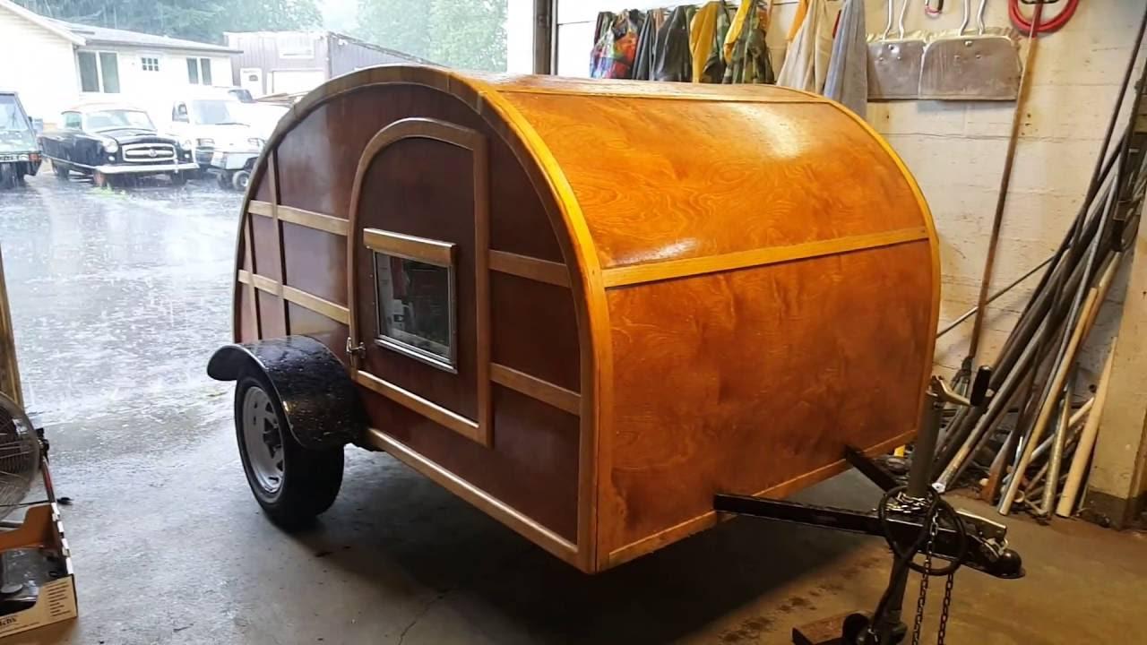Vintage Teardrop Camper Hitches To Ultra Modern Hybrid