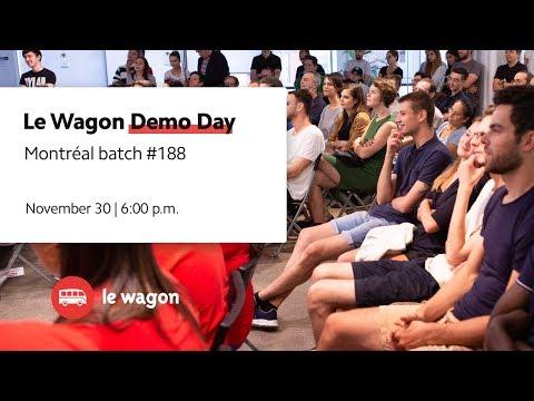 Coding Bootcamp Montréal | Le Wagon Demo Day #188