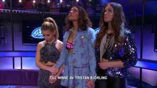 En tyst minut för Tristan Björling - Idol Sverige (TV4)
