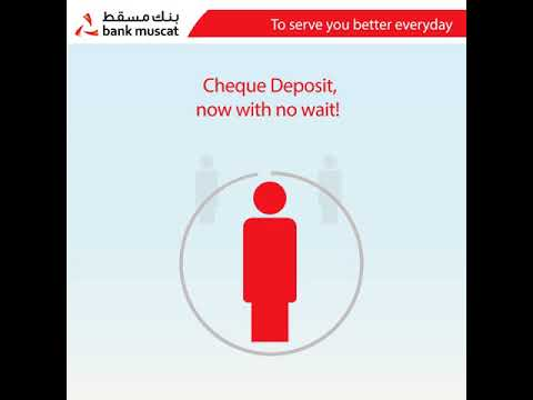 Deposit your cheques any time using our branch CDMs across Oman