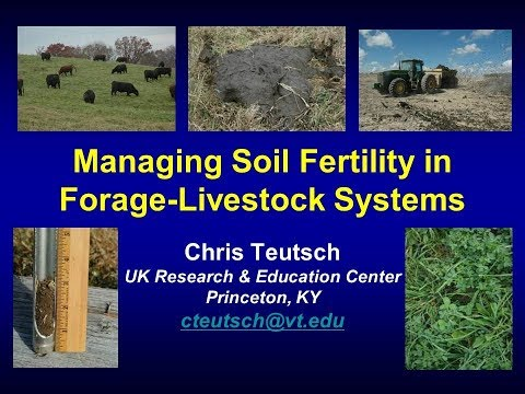 Managing Soil Fertility in Forage-Livestock Systems-Chris Teutsch