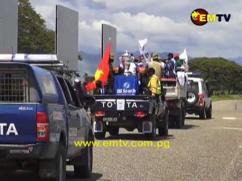 Oil Search Trophy Tour Given a Rousing Welcome in Lae City