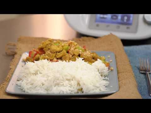 Körili ve Yer Fıstıklı Tavuk, Basmati Pilavı - Thermomix ile