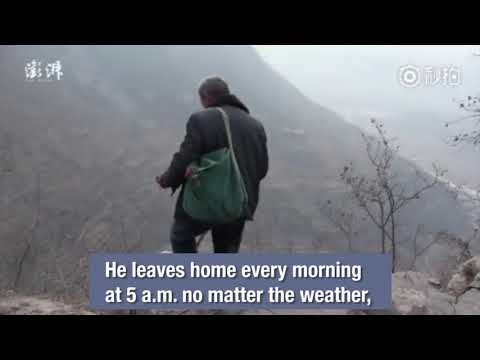 Chinese man travels 50 km (31 miles) every day for 30 years to deliver mail to villagers