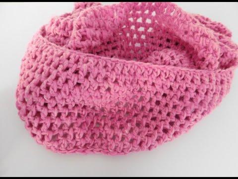 Trendiger Schal/Loop in pink häkeln