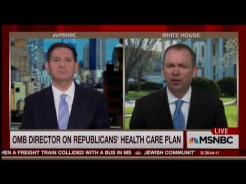 Mulvaney: 'Insurance Is Not Really The End Goal Here'