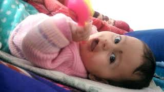 Mumum play with her toy