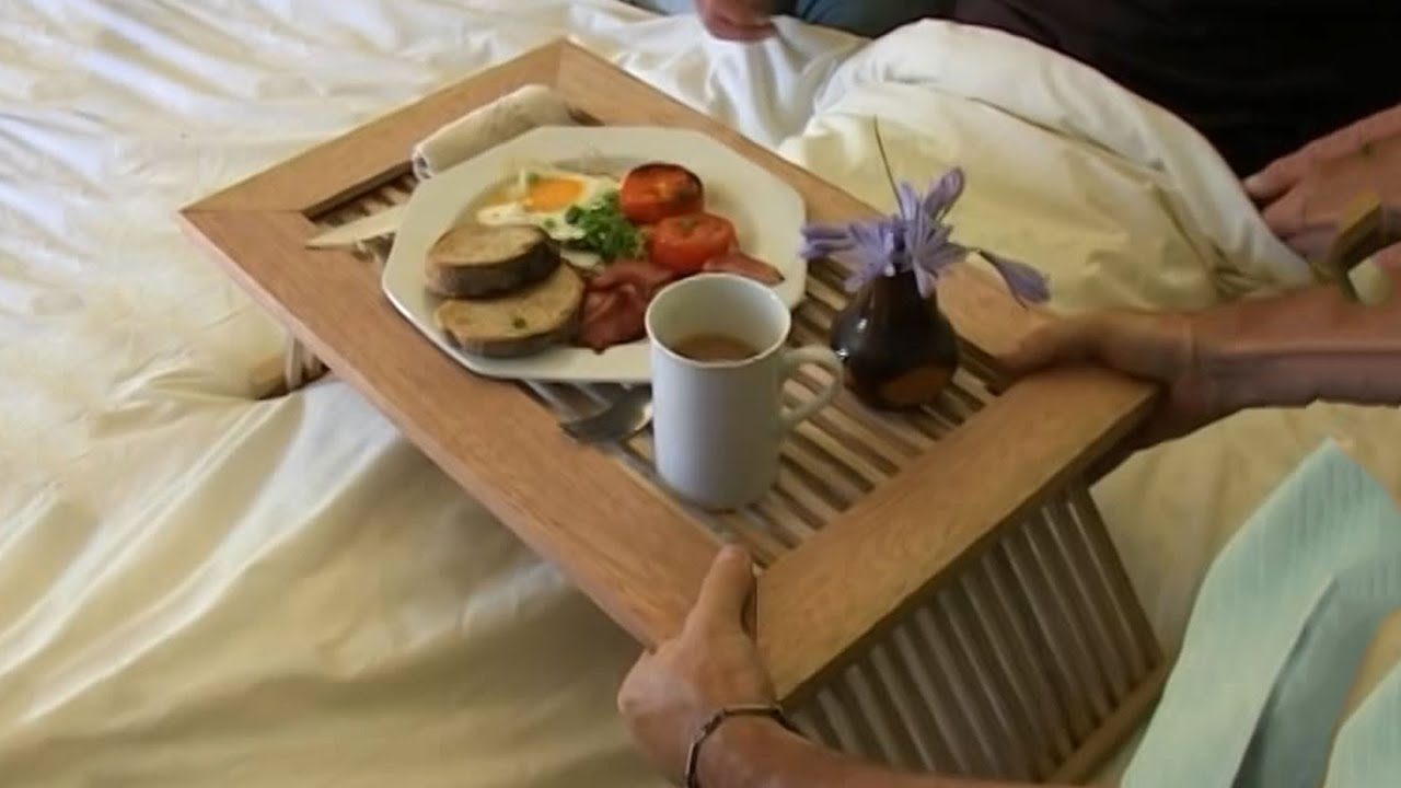 diy breakfast in bed tray - youtube