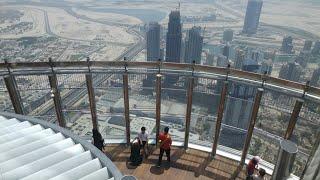 At the Top Burj Khalifa Dubai, The Worlds Tallest Building at Dubai Mall & Dubai Fountains UAE 2017