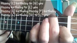 hướng dẫn Happy birthday  ukulele ( tutorial)