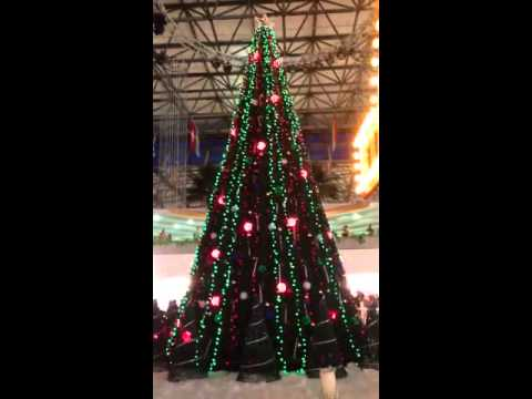 Xmas light show in Micronesia mall