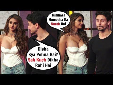 Tiger Shroff ANGRY On Disha Patani Full 0PEN Dress At Bharat Movie Premiere