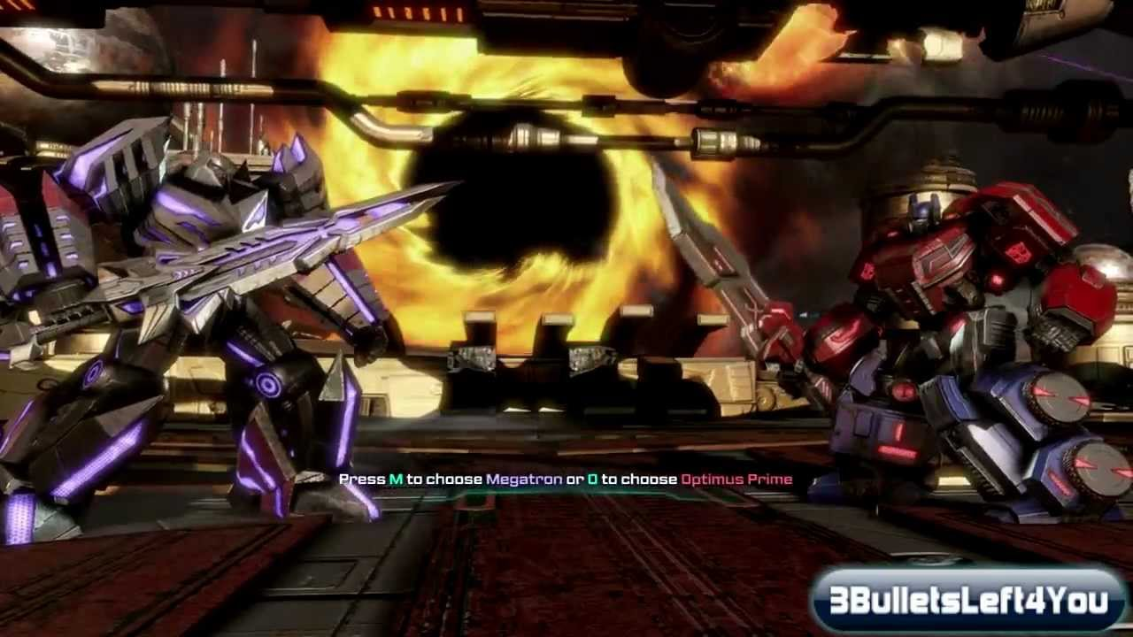 transformers fall of cybertron optimus vs megatron till all are